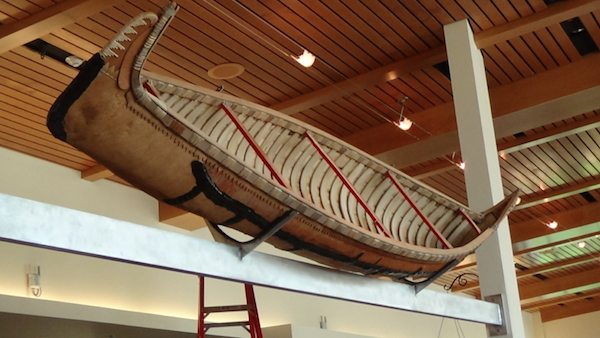 Canoe in mount, Dejope Hall