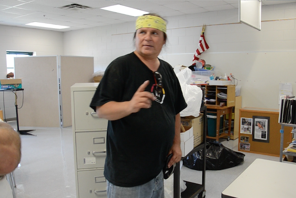 Wayne Valliere standing in his classroom at Lac du Flambeau Public School